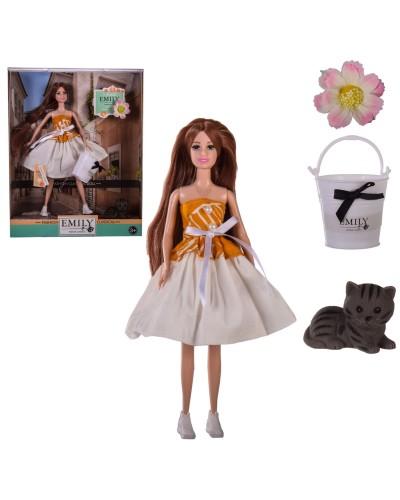 "Кукла ""Emily"" QJ111B с аксессуарами, в кор.– 28.5*6.5*36 см, р-р игрушки – 29 см"