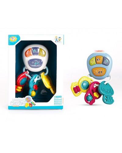 Муз разв. игрушка 855-73A брелок-ключи, звук, мелодии, 2 цвета микс, в коробке 15,7*6,4*21,
