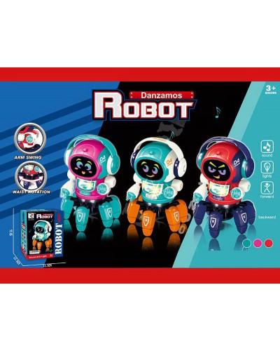 Робот батар. ZR157 3цвета, свет, звук,  в кор. 13,5*13,5*19см