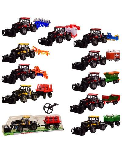 Трактор инерц. 1033A/2033A/6033A/ 4033A/5033A/ 8033A/9033A/7033A/ 2044A/3044A10 видов, под слюдой
