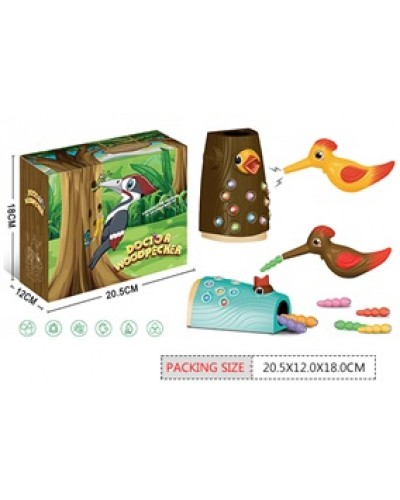 "Игра ""Накорми птенца"" BY-5004 птичка кормит птенцов, магнитные червячки, в коробк"