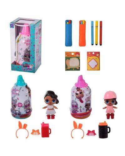 Игровой набор BELA DOLLS BL1183 можно разрисовать платье куколки,в кор. – 11*11.5*21.5 см,р