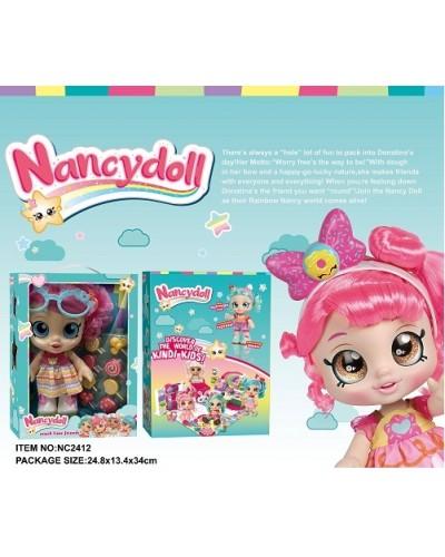 Игровой набор NANCY DOLLS NC2411 куклы 4 вида микс Kindi Kids+пироженки в компл, 28см в кор