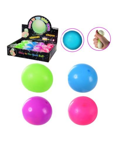 Антистресс 2125-1 4 цвета, светится в темноте, шарики, 12 шт. в дисплей боксе – 24.5*19.5*5.5 см, р-