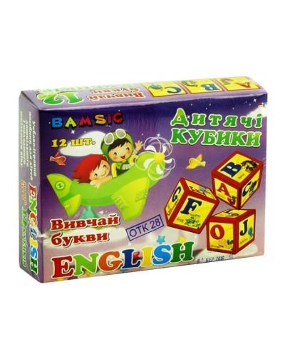 """Набір дитячий """"Кубики 12 Английський"""" в коробці арт315"""
