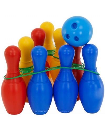 Кегли: девять кеглей, шар