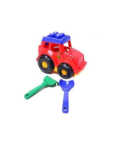 Детский набор: трактор, лопатка, грабли