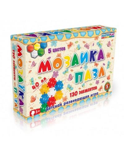 Мозаика-пазл №5 (130 деталей, d=40mm), коробка 1-146к