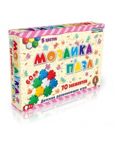 Мозаика-пазл №6 (70 деталей, d=60mm), коробка 1-147к
